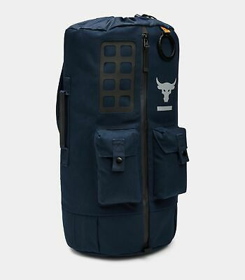 0e45bb032e Under Armour Project Rock Backpack 60 Duffle Bag Blue Water Resist  1345663-408
