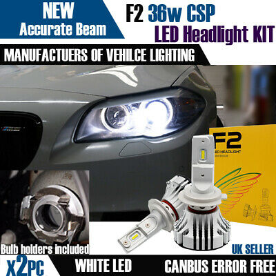 F2 H7 Bmw F10 Canbus Error Free White Led Kit 6500K Accurate Beam Pattern