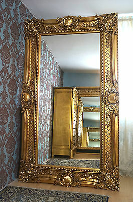 """Splendid 75""""gold leaf gilt baroque style bevelled mirror from a french castle"""