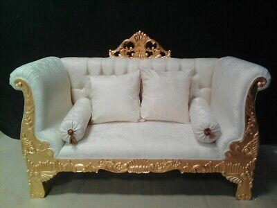 """Awesome 62"""" sofa baroque style exclusive italian fabric from a french castle"""