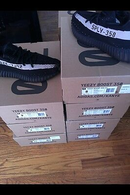 d8f4db8a3a60f Adidas Yeezy Boost 350 V2 BY1604 Black White Ultra boost Nmd Kanye West  size 9
