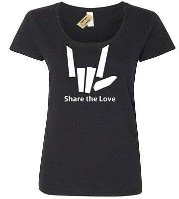 Womens Share The Love Funny T Shirt Youtuber Stephen Sharer ladies Scoop neck