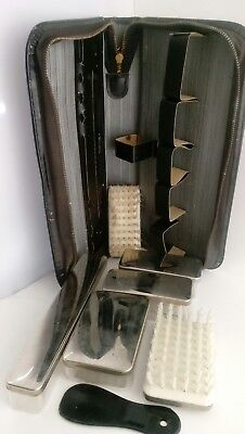 Vintage Western Germany Shoe Shine Traveling Kit.  8 Pieces.