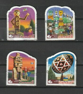 """Canada  2009 # 2336 A- D  """" Roadside Attractions - 1  """" Set of 4 used"""