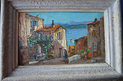 Tableau de Louis Vigon, Saint Tropez.