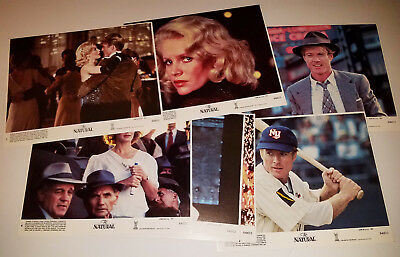"""THE NATURAL (1984) - Eight 8""""x 10"""" U.S. Complete Lobby Card Set - Robert Redford"""