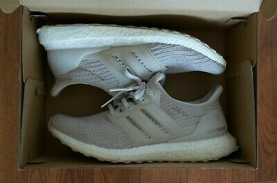 73ce75c03 Adidas Ultra Boost 4.0 Chalk Pearl Running Shoes Bb6177 Size 9.5 Free  Shipping!