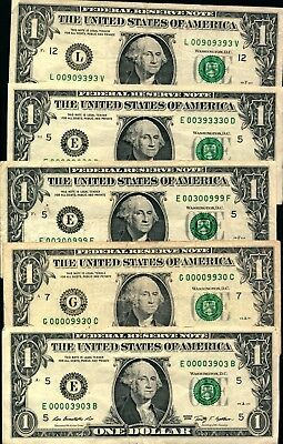 Trinary $1 circulated notes various series/blocks ALL 120 diff combos available
