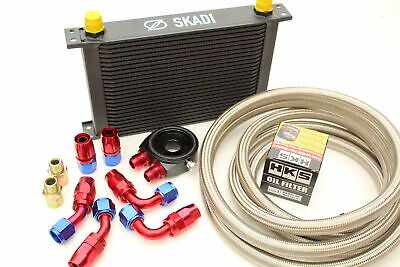 25 Row Oil Cooler Kit + HKS Filter for Mazda MX5, 1.6 or 1.8, Mk1 or Mk2