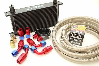 Performance 19 Row Oil Cooler Kit + HKS Filter for Nissan S13,S14,S15 SR20DET...