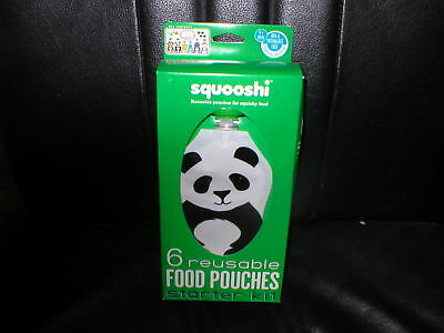 Baby Toddler Food Pouches Squooshi 6pk Starter Kit NEW