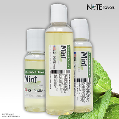 Liquid Mint - 10-120mL Food Grade Concentrated Flavoring Drops DIY Juice