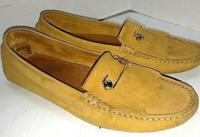 c11c5dd4025 MERCANTI FIORENTINI LOAFERS Womens Size 6.5b Mf-3176 Cracked Gold ...