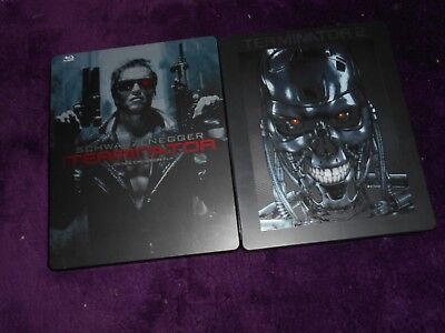 Lot de 2 steelbook blu ray Terminator 1 & 2 RARE!!!