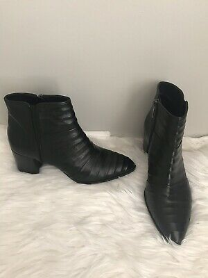c38adee02c877 Pons Quintana Made in Spain Womens Leather Ankle Black Boots Size Euro  39/US 8.5