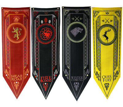 Game Of Thrones Banner AUS SATIN Deko Haus Star Lannister  Baratheon Targaryen