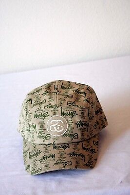 c5c3e7153b8 NEW STUSSY SS LINK WORLD TOUR ADMIRAL EMBROIDERY COTTON Olive Green HAT 5  PANEL