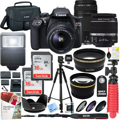 Canon T6 EOS Rebel DSLR Camera with EF-S 18-55mm f/3.5-5.6 IS II and EF 75-300mm