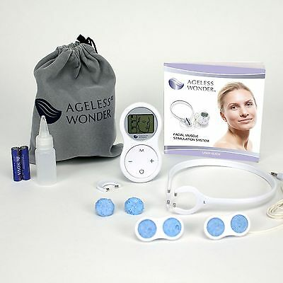 Ageless Wonder™ Facial Toning Device w/ Two Application Wands & Carrying Bag