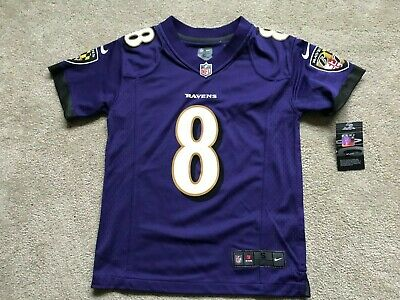 huge discount d080c 29d16 NEW LAMAR JACKSON Baltimore Ravens Nike NFL Youth NWT Jersey MSRP $75 Small  S