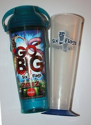 Six Flags 2012 Refillable Sports Bottle Theme Park Drink Cup NEW Great America