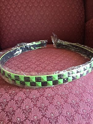 GREEN/BLACK Girls  Pyramid Studded Belt Size S 20-22 Inch New