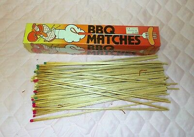 New Box of 90 Pc Long Wood Matches for Fireplace, BBQ, Camping