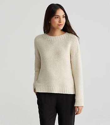 92d43afacc1cd NWT  448 Eileen Fisher Softwhite LOFTY CASHMERE BOX-TOP Sweater size XL
