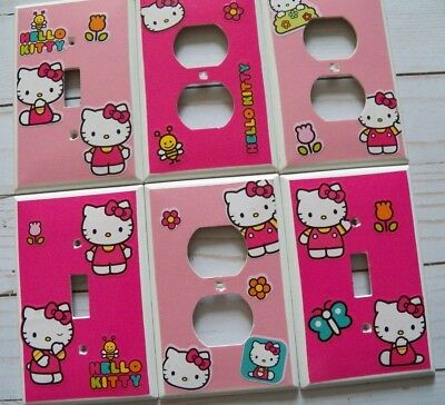 HELLO KITTY Switchplate Cover Choose Your Plate Light Switch Electrical Outlet