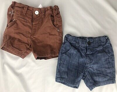 NEXT DIRECT TODDLER BOYS shorts size 12-18 Months Chino Shorts Lot Of 2