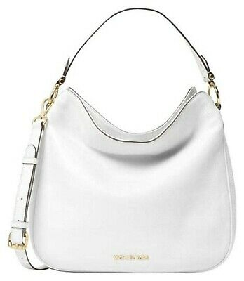 5257aed90330ac Michael Kors Heidi Medium Convertible Leather Shoulder Tote Bag OPTIC WHITE  NWT