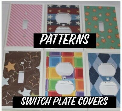 Switchplate Covers - PATTERNS - Light Switch Cover Electrical Outlet Receptacle