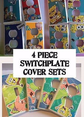 4 Pc Switchplate Cover Sets Kids Room Light Switch Electrical Outlets Various