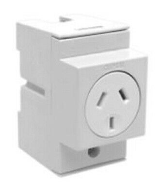 Clipsal SOCKET OUTLET 250V AC 3-Pins 10A Automatic Switching,Horizontal DIN Rail
