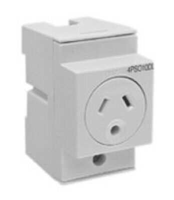 Clipsal SOCKET OUTLET 250V AC 10A 3-Pins Round Earth 2-Poles DP Auto Switch