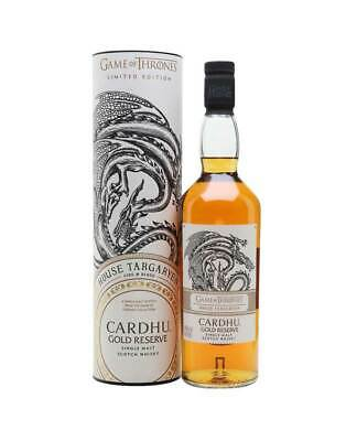 Game of Thrones House Targaryen – Cardhu Gold Reserve 700ml @ 40 % abv