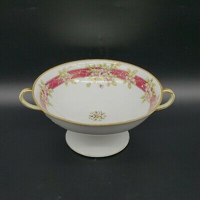Antique Nippon Japanese Porcelain Compote Or Tazza