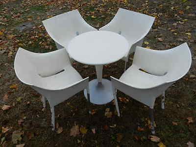 Rare Vintage Philippe Starck DR. NO NA 5 Pc Set Tee Table 4 Chairs Kartell Italy