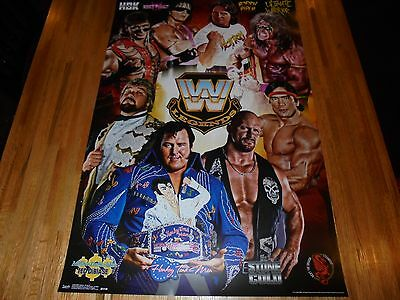 WWE Legends Poster 22 X 34 WWF SUPER COOL Stone Cold HBK Ultimate Warrior