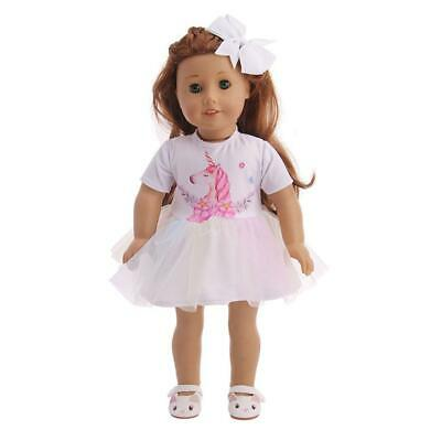 Stylish Summer Party Outfits Princess Dress for 18 Inches Girl Doll Clothes