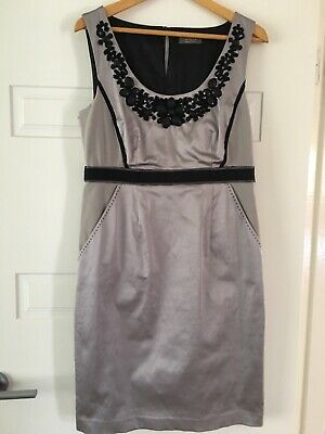 Ladies Size 12  Silver/Light Grey Jacqui E Drress and Jacket