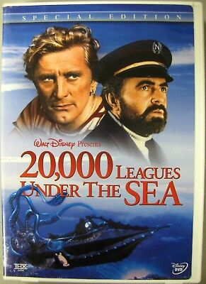 o'o'o . Disney's .. 20,000 LEAGUES UNDER the SEA (2-Disc Set) Kirk Douglas . LN