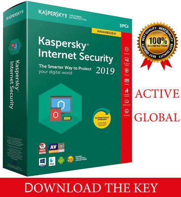 Kaspersky INTERNET Security 2019  3PC/ 3 DEVICE/1 Year / Global-Key 14.15$
