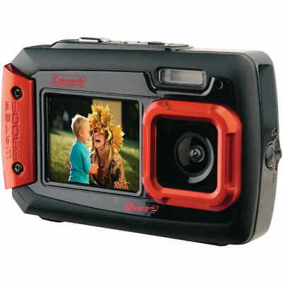 Coleman 2V9WP-R Duo2 Dual-Screen Waterproof Digital Camera 20.0 Megapixel - Red