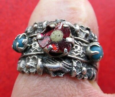 Medieval Silver ,,Fede,, Ring