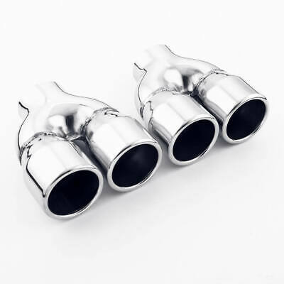 """2/"""" Inlet 3/"""" Out 4.7/"""" Long Straight Cut 304 Stainless Steel Exhaust Tip Rolled"""