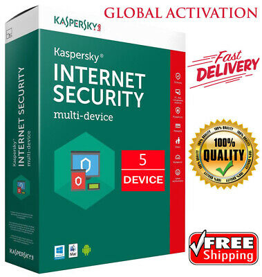KASPERSKY INTERNET Security 2019 / 5 Devices / 1 Year / GLOBAL ACTIVITY / 17.45$