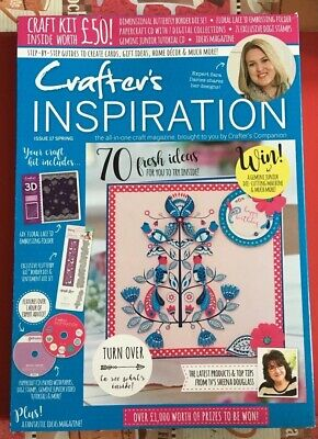 Crafters Companion CRAFTERS INSPIRATION MAGAZINE Issue 17 Spring - FREE £50 Kit