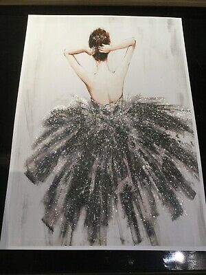 Glitter Dancer picture A4 print only NO FRAME  diamante And Diamond Dust