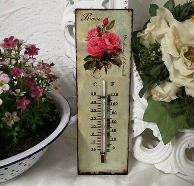 Thermometer Wandthermometer  Roses  Temperatur Aussenthermometer 25x8cm